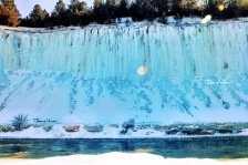 Niobrara river blue ice wall